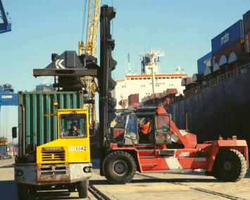 Tomadas de força para pesados portos